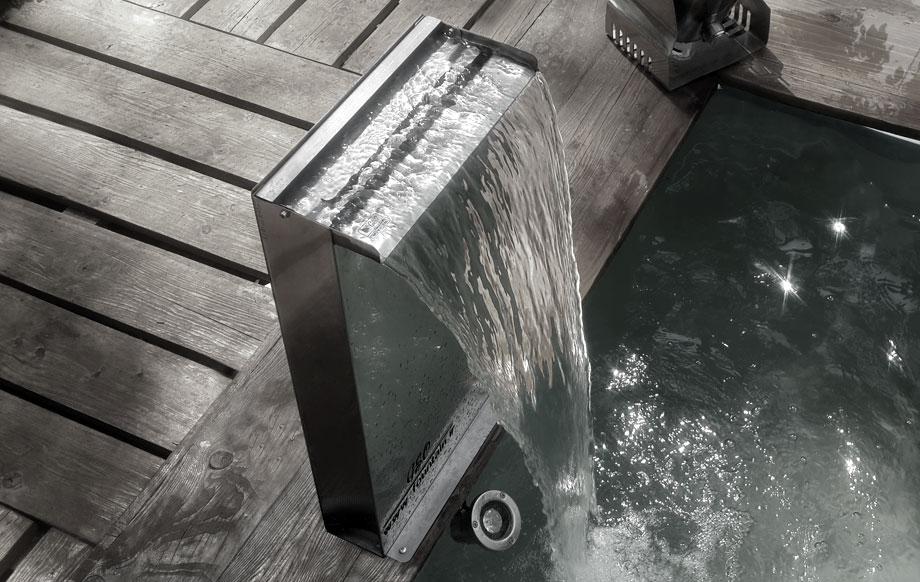نازل پرده آب یا آبنما آبشار پایه دار