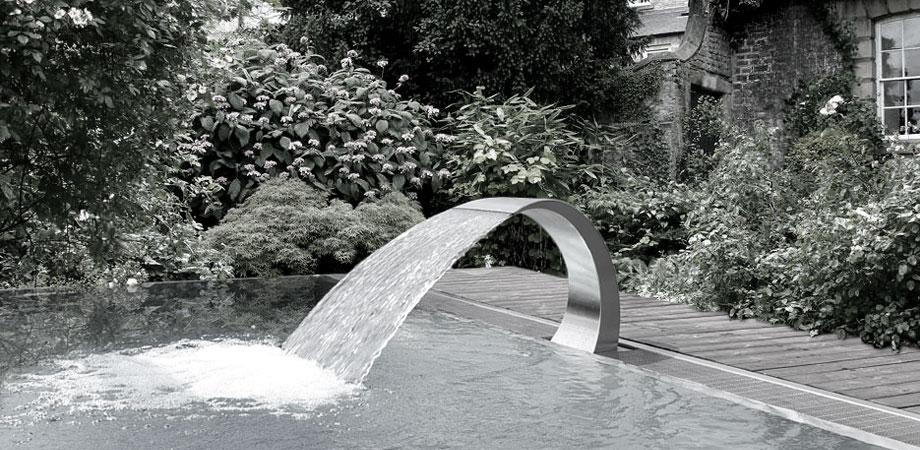 نازل کرتین، آبنمای پرده آب استخری
