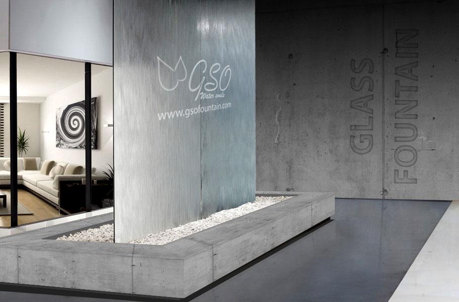 آبنمای شیشهای در آبنما خانگی و دکوراتیو