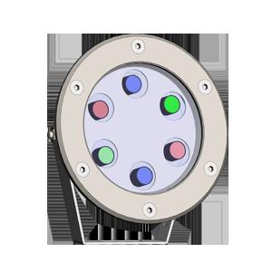 چراغ آبنمای پروکلاس LED RGB 220