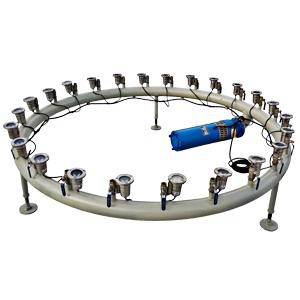 سفارش رینگ و یا کلکتور آبنما استیل سایز 2 اینچ - DN50 برحسب متر طول با پایه استیل